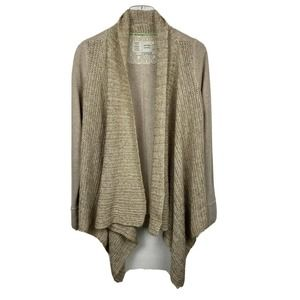 Saturday Sunday Cardigan Beige Knit Open Front
